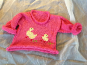 Pink Duck sweater
