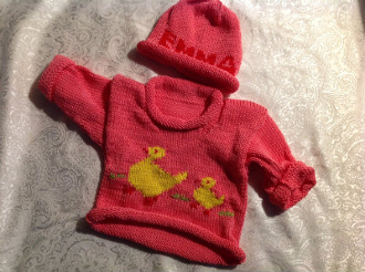 Emma's duckling sweater set